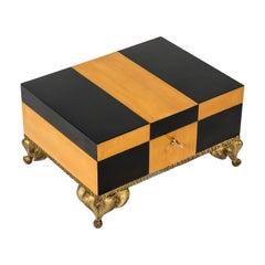 Rare Boxe with Bronze Feet by Franck Evennou