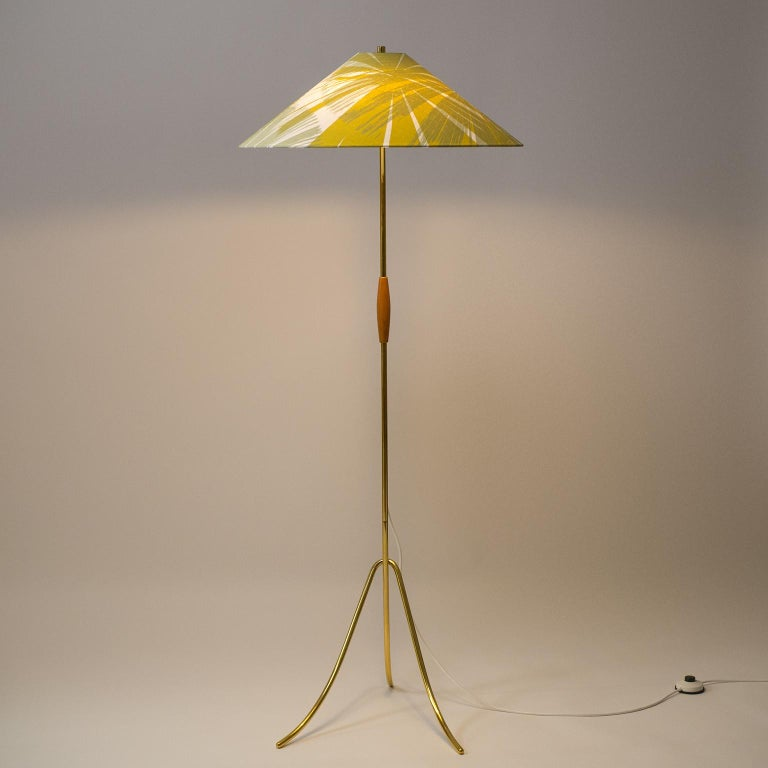 Austrian Rare Brass Floor Lamps