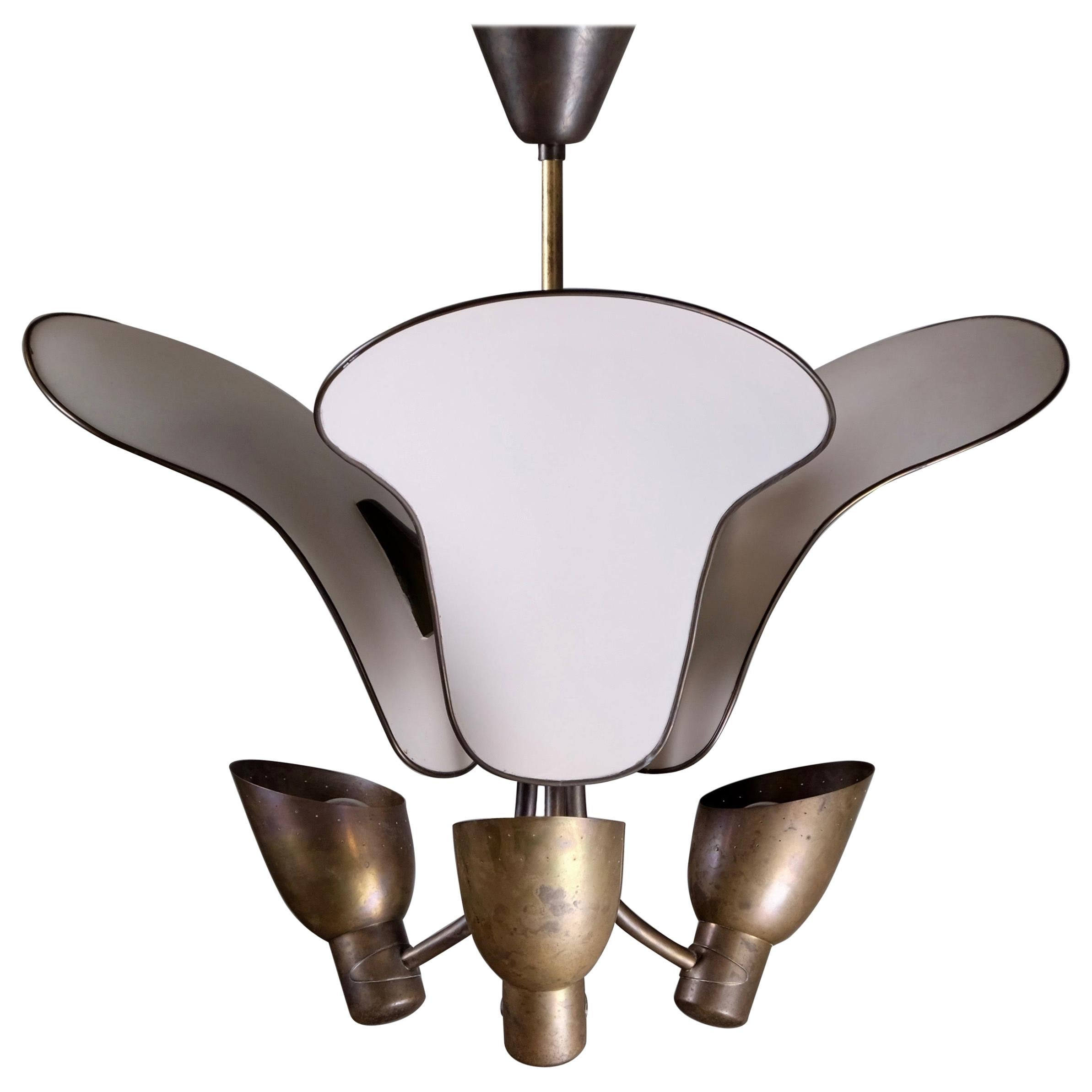 Rare Brass Light by Carl-Axel Acking, 1940s