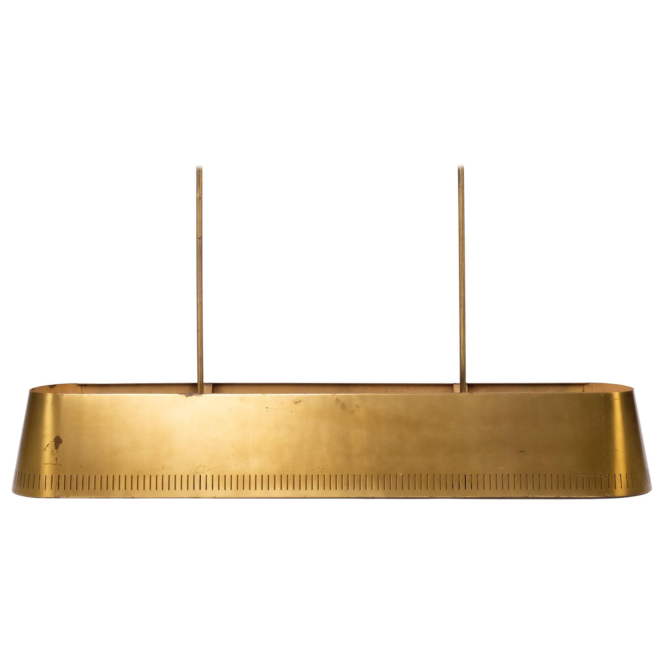 Rare Brass Pendant, Böhlmarks, Sweden, 1940s