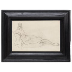 Rare Brassai Woman Nude Pencil Drawing, 1944