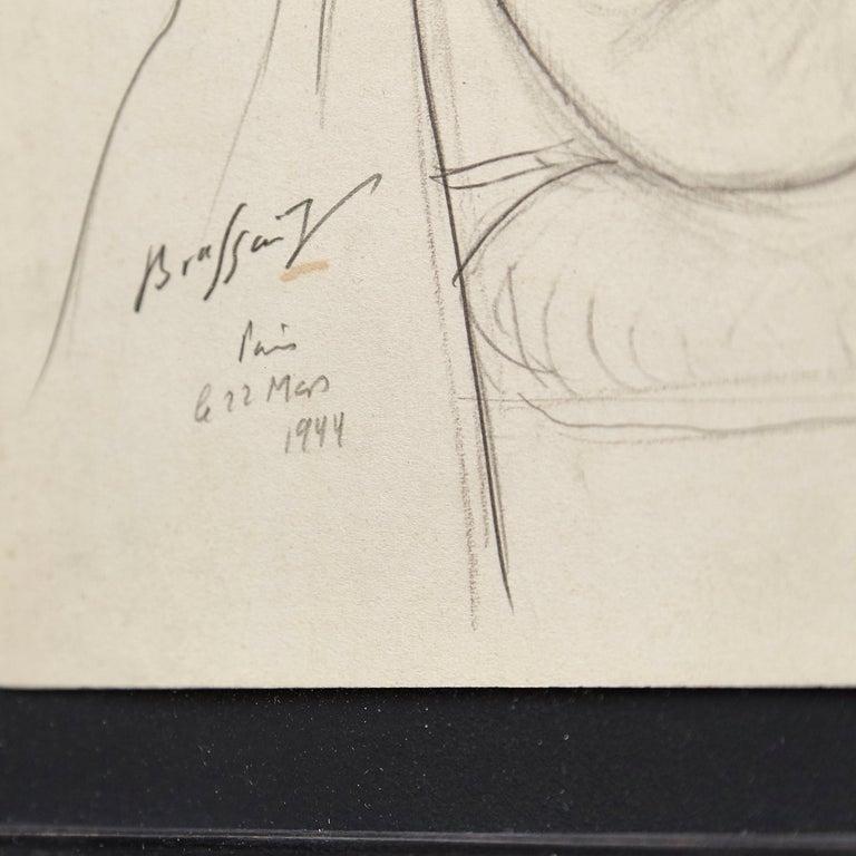 Rare Brassai Woman Nude Pencil Drawing, 1944 For Sale 3
