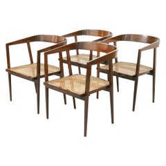 Joaquim Tenreiro U Armchair - Cane and Rosewood set of 8 available.