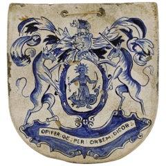 Rare Bristol Delft Pottery Apothecary Pill Slab, 17th Century