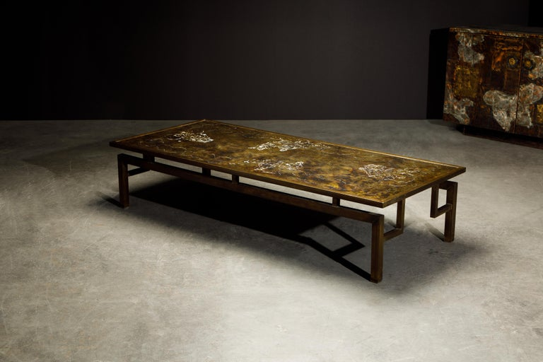 Rare Bronze 'Classical' Cocktail Table by Philip & Kelvin LaVerne, 1960s, Signed For Sale 3