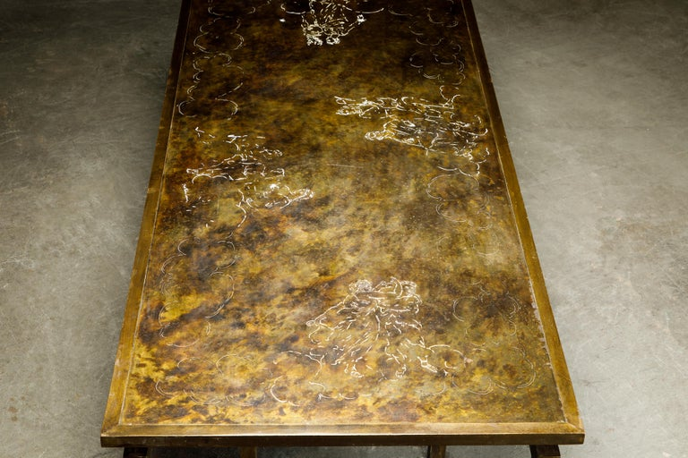Rare Bronze 'Classical' Cocktail Table by Philip & Kelvin LaVerne, 1960s, Signed For Sale 5
