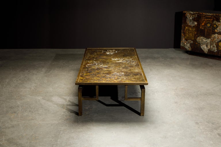 Rare Bronze 'Classical' Cocktail Table by Philip & Kelvin LaVerne, 1960s, Signed For Sale 1