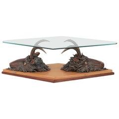 Rare Bronze Coffee Table by Jean Marais