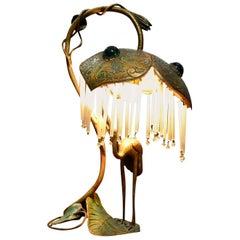 Rare Bronze Figural Art Nouveau Lamp, circa 1900