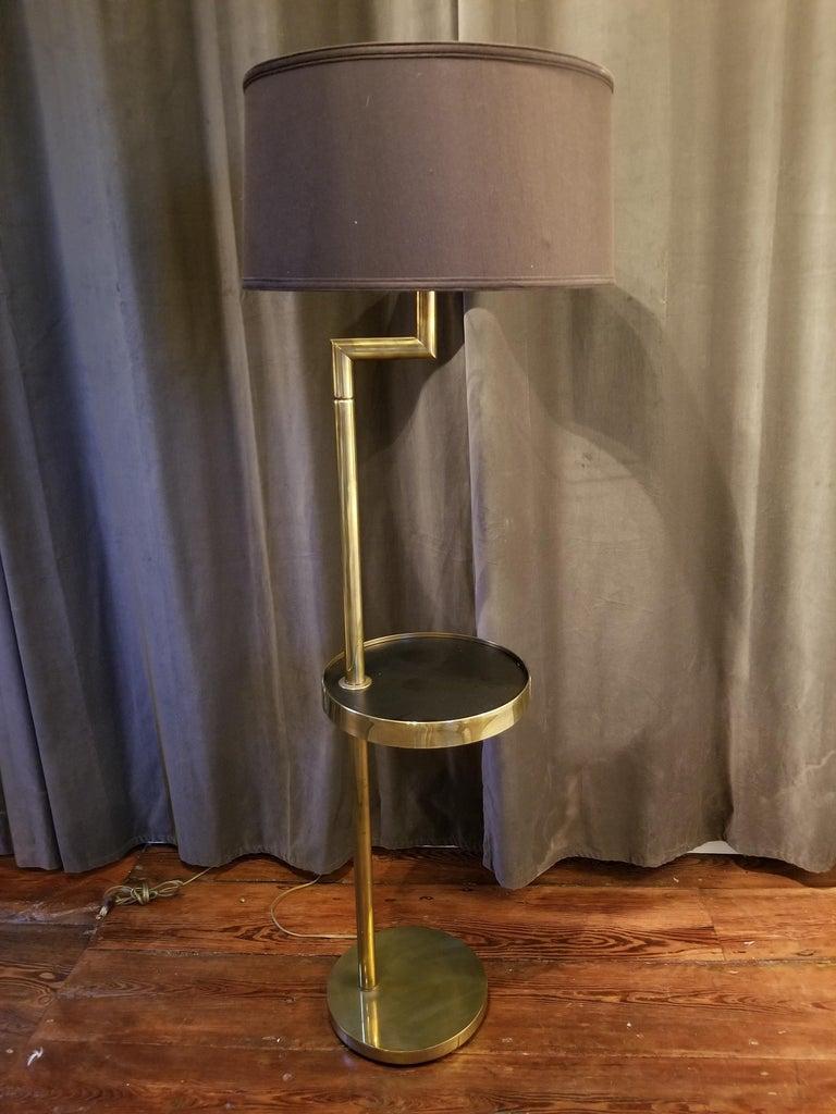 American Rare Bronze Floor Lamp by Hart Associates For Sale