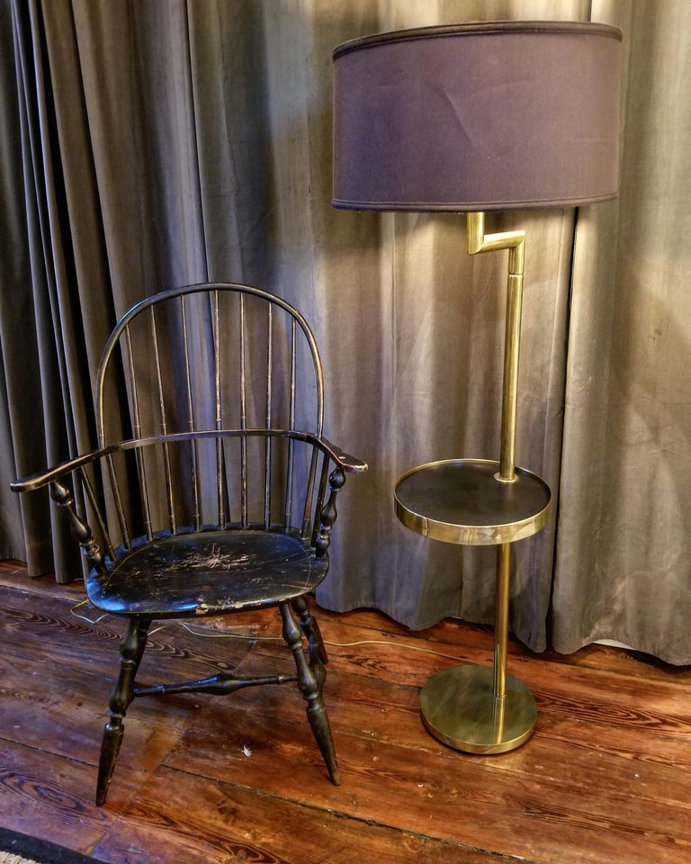 Rare Bronze Floor Lamp by Hart Associates In Excellent Condition For Sale In New York, NY
