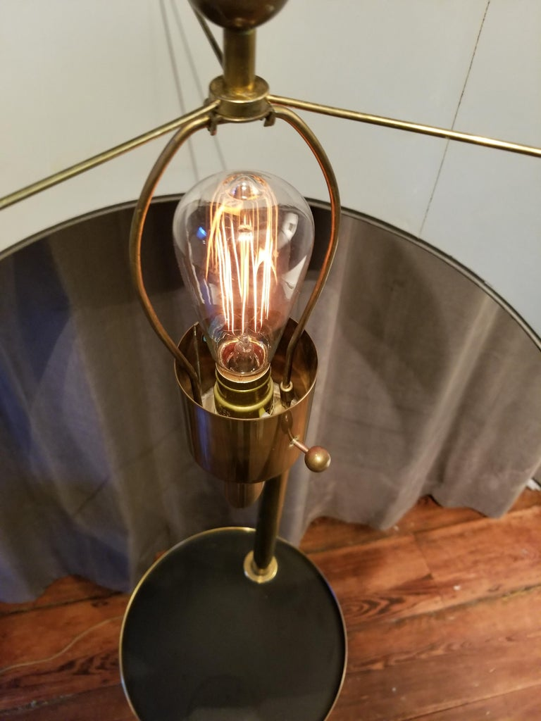 Late 20th Century Rare Bronze Floor Lamp by Hart Associates For Sale