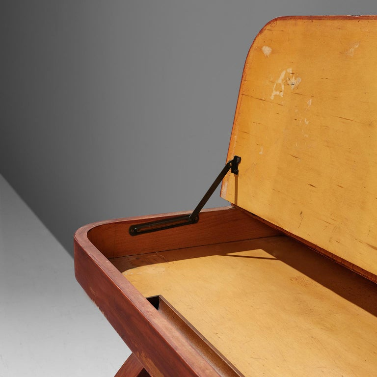Mid-Century Modern Rare Brown Saltman Desk with Chair  For Sale