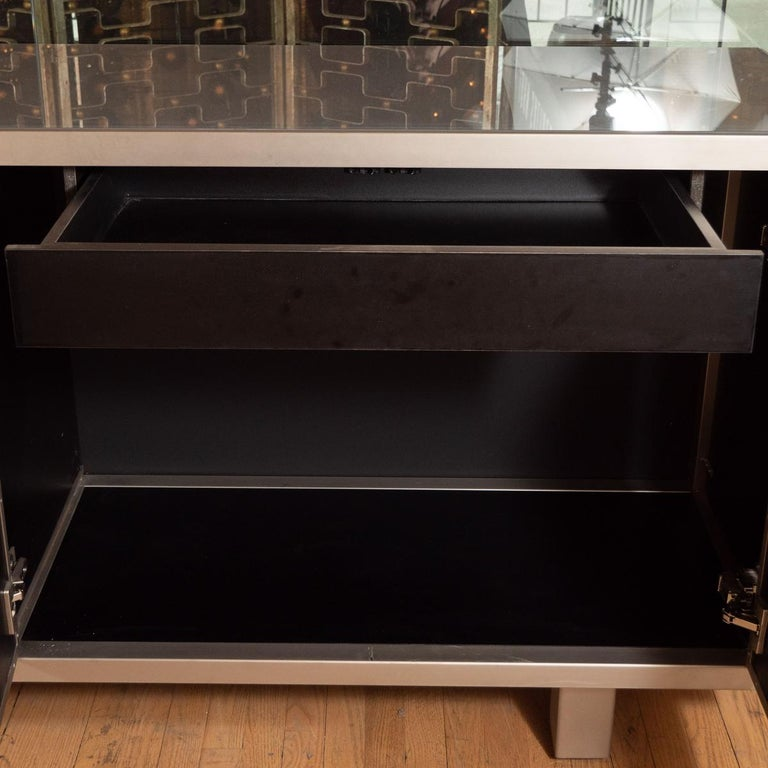 Rare Brutalist Ceramic and Metal Sideboard In Good Condition For Sale In New York, NY