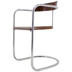 Rare Buahaus Tubular Chrome Chair, Hynek Gottwald, 1930s