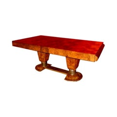 Rare Burl Walnut Dining  Table By Ouhayoun David