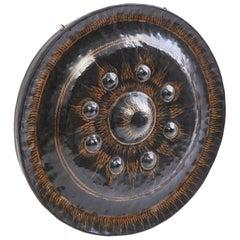 Rare Burmese Hand Beaten Bronze Monastery Gong, 19th Century