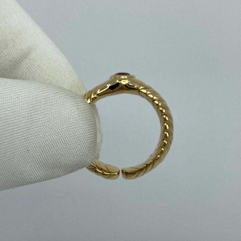 Rare Bvlgari Pink Tourmaline Serpenti Oval Cut 18 Karat Yellow Gold Flex Ring For Sale 8
