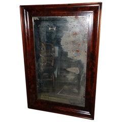 Rare circa 1888 Arts & Crafts Antique Mahogany Mirror Original Silvered Mirror