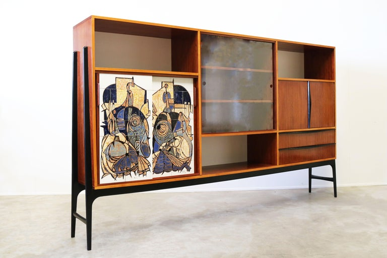 Rare Cabinet / Highboard by Alfred Hendrickx for Bruxelles Expo 1958 Belform  For Sale 3