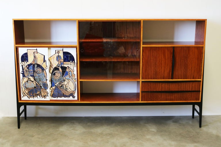 Rare Cabinet / Highboard by Alfred Hendrickx for Bruxelles Expo 1958 Belform  For Sale 4