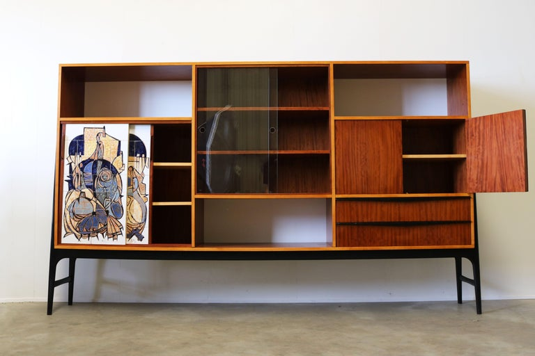 Rare Cabinet / Highboard by Alfred Hendrickx for Bruxelles Expo 1958 Belform  For Sale 5