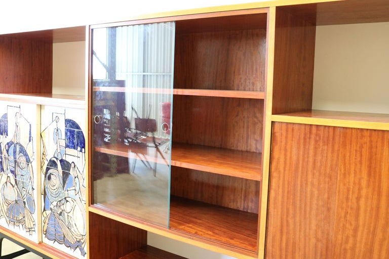 Rare Cabinet / Highboard by Alfred Hendrickx for Bruxelles Expo 1958 Belform  For Sale 8