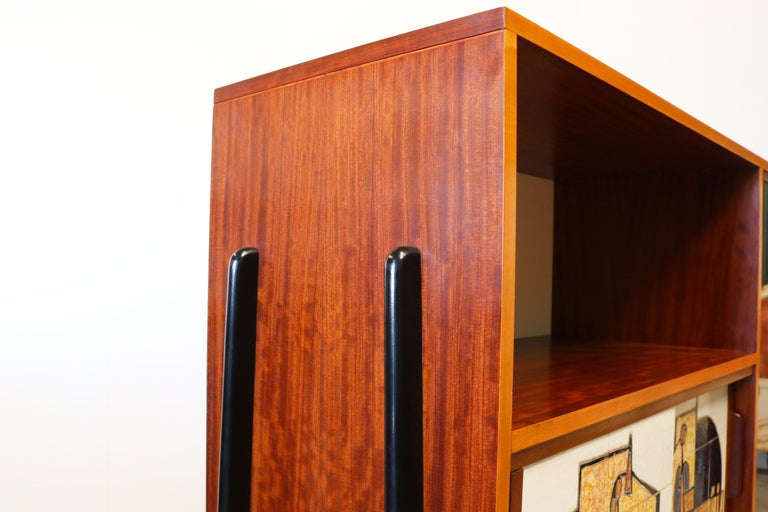 Rare Cabinet / Highboard by Alfred Hendrickx for Bruxelles Expo 1958 Belform  For Sale 9