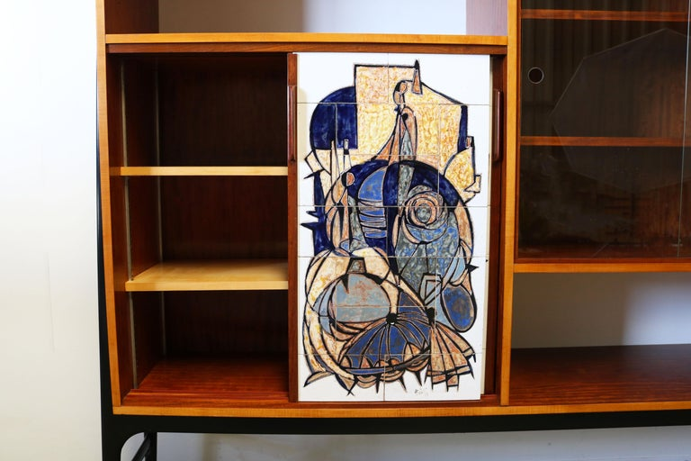 Mid-20th Century Rare Cabinet / Highboard by Alfred Hendrickx for Bruxelles Expo 1958 Belform  For Sale