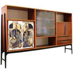 Rare Cabinet / Highboard by Alfred Hendrickx for Bruxelles Expo 1958 Belform