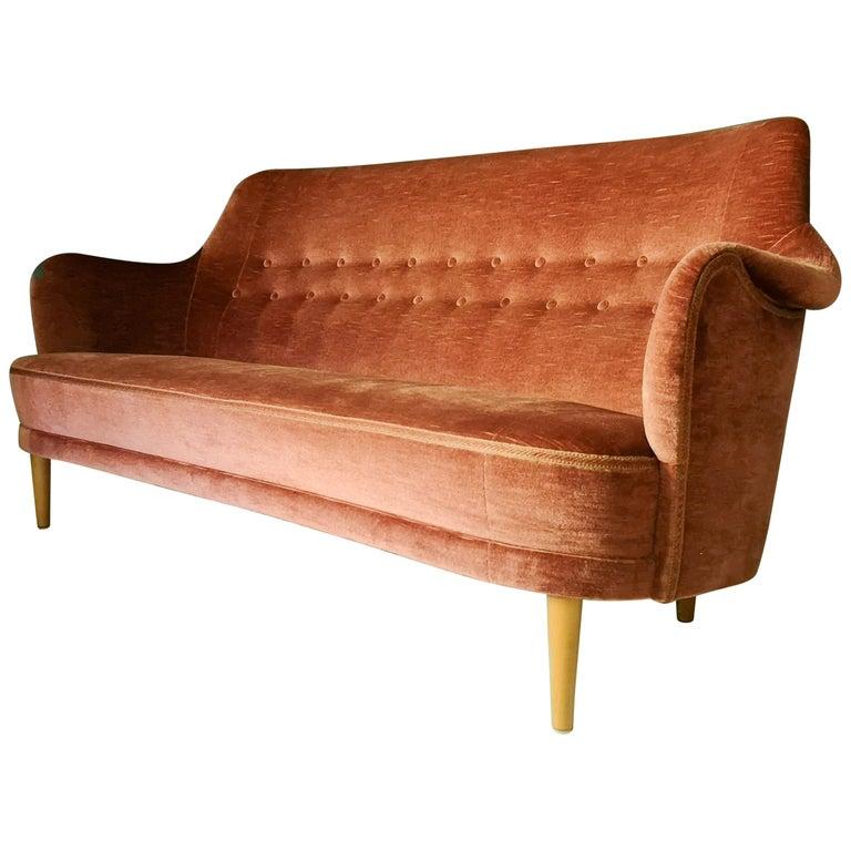 "Rare Carl Malmsten ""Samsas"" Sofa Sweden, 1960s For Sale"