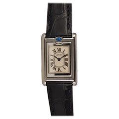 Rare Cartier Stainless Steel Ladies Basculante Quartz Watch 2386