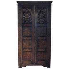 Rare Carved Camphor Wood Antique Cabinet/Wardrobe/Storage