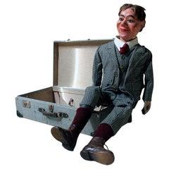 Rare Cased circa 1932 Ventriloquist's Dummy by Arthur Quisto