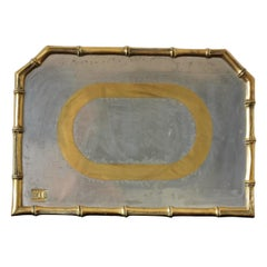 Rare Cast Aluminum and Brass Brutalist Tray by David Marshall, Spain, 1970s
