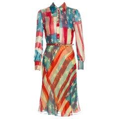 Rare Catherine Malandrino Meryle Streep Flag Dress Sz 2