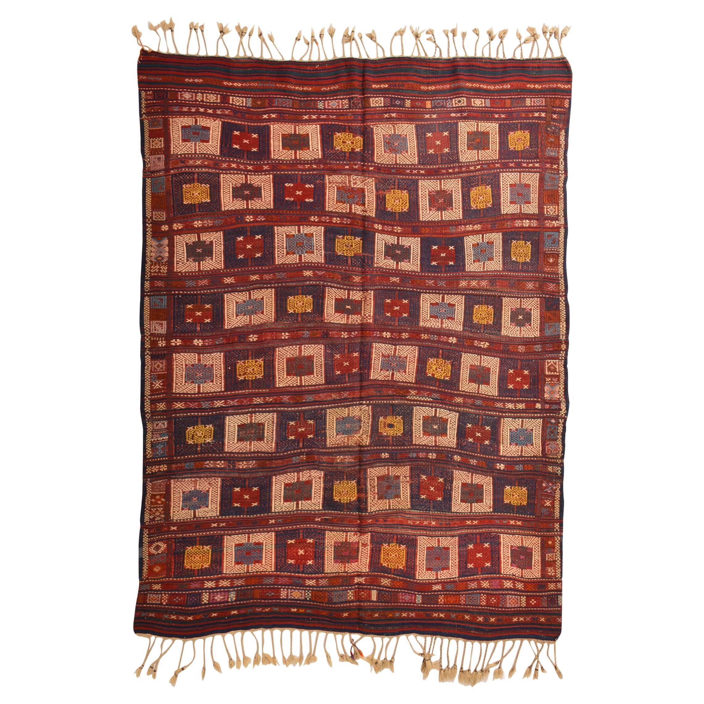 Rare Caucasian Kilim VERNEH for Collection