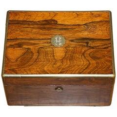 Rare Cawston 1836 William IV Rare Wood Gentleman Military Campaign Vanity Box