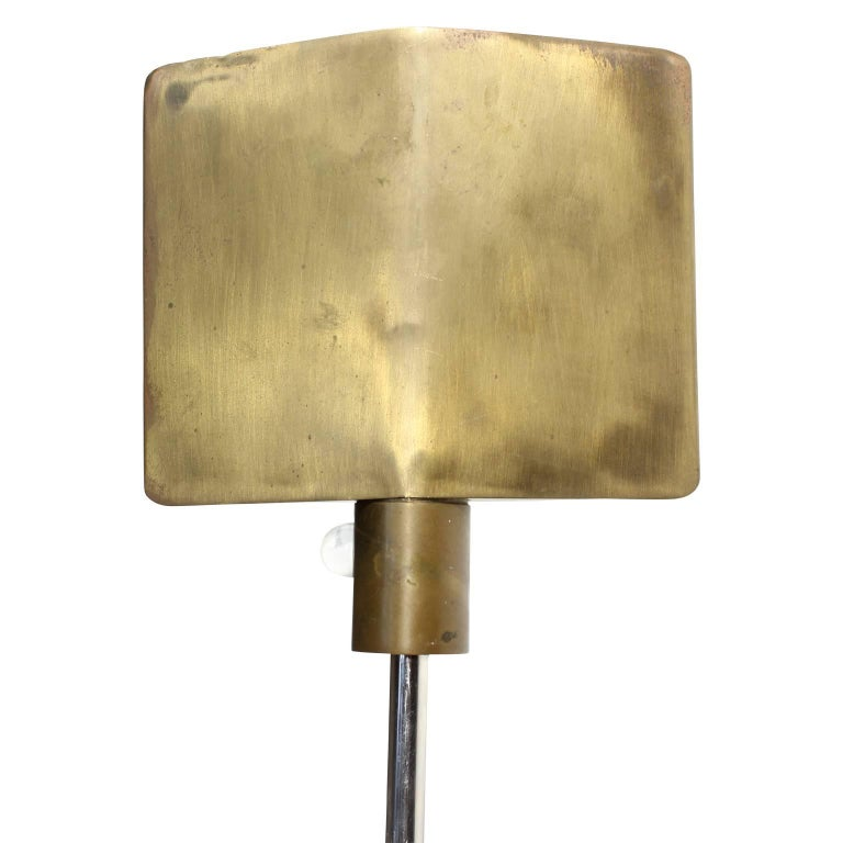 Rare Signed Cedric Hartman Brass Floor Lamp with Glass ...