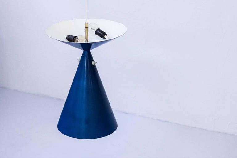 Mid-20th Century Rare Ceiling Lamp by Bertil Brisborg, Sweden, circa 1950 For Sale
