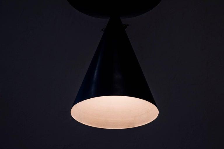 Rare Ceiling Lamp by Bertil Brisborg, Sweden, circa 1950 For Sale 2