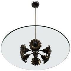 Rare Ceiling Lamp Fontana Arte Design Pietro Chiesa Artglass, 1940s