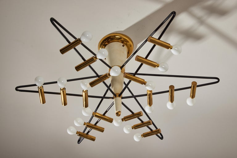 Rare Ceiling Light by Giampiero Aloi for Stilnovo For Sale 3