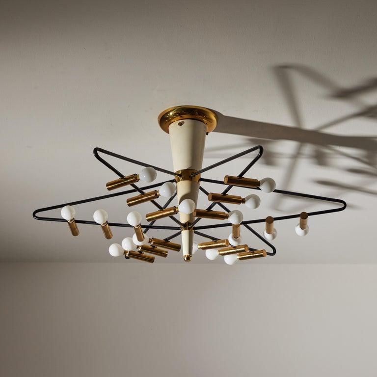 Rare Ceiling Light by Giampiero Aloi for Stilnovo For Sale 5