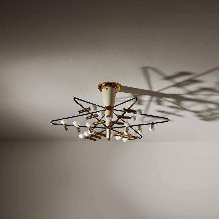 Rare Ceiling Light by Giampiero Aloi for Stilnovo For Sale 6