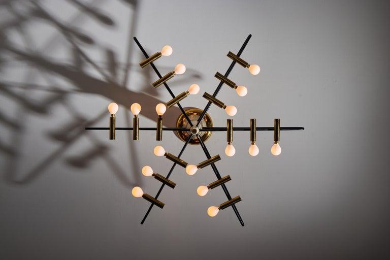 Mid-Century Modern Rare Ceiling Light by Giampiero Aloi for Stilnovo For Sale
