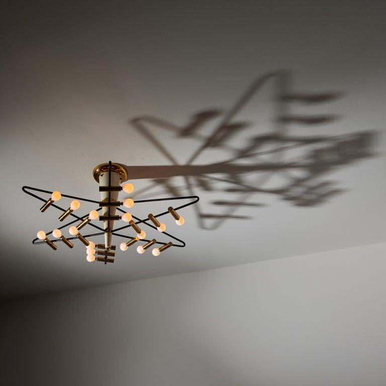 Italian Rare Ceiling Light by Giampiero Aloi for Stilnovo For Sale