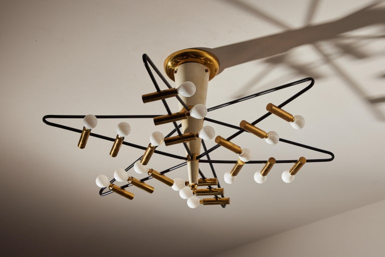 Rare Ceiling Light by Giampiero Aloi for Stilnovo In Good Condition For Sale In Los Angeles, CA