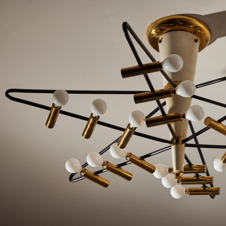 Mid-20th Century Rare Ceiling Light by Giampiero Aloi for Stilnovo For Sale