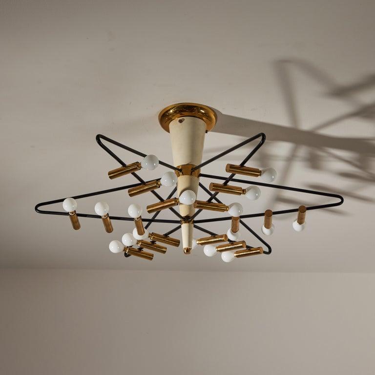 Rare Ceiling Light by Giampiero Aloi for Stilnovo For Sale 1